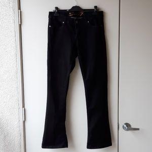 7 for All Mankind black Rocker Slim jeans